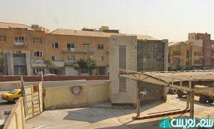 هواکش مترو پمپ بنزین دروازه دولت قبل از تخریب