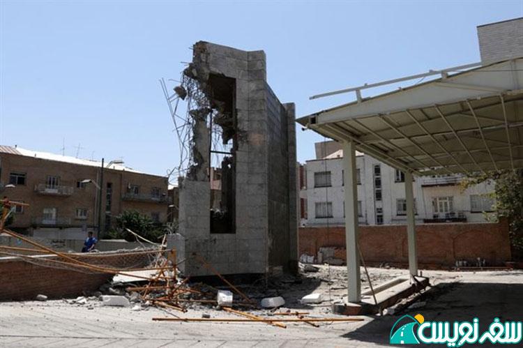 تخریب هواکش مترو پمپ بنزین تاریخی دروازه دولت