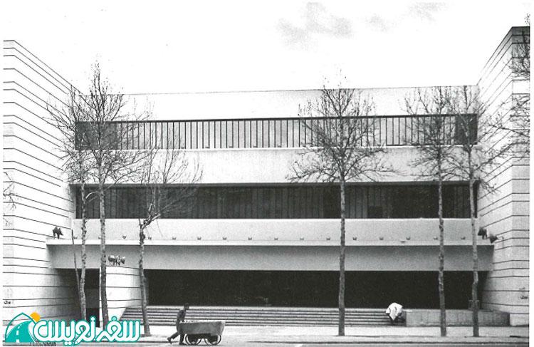 بانک ملی دانشگاه تهران اثر یورن اوتزان Jørn Utzon