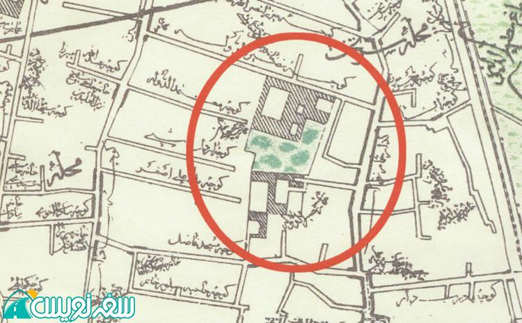 خانه نصیرالدوله در نقشه نجم الملک