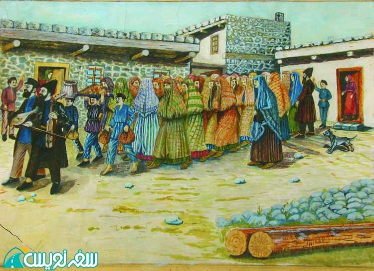 نقاشی بیرون آمدن یک عروس یهودی از یک حمام یهودی