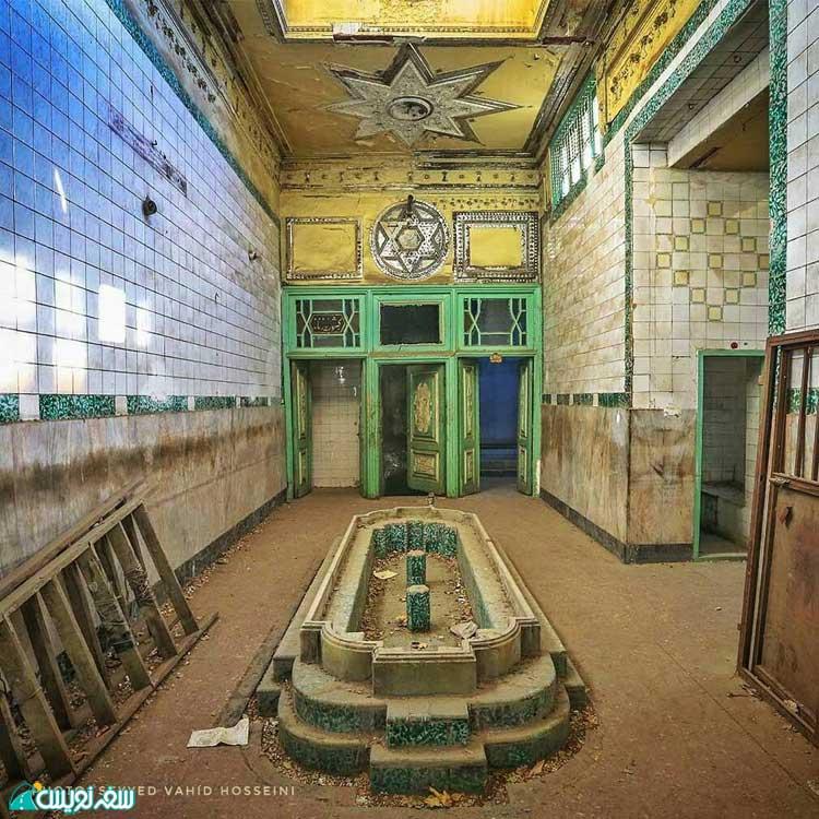 سالن انتظار حمام کشوریه، بی نظیر یا سلمیانه (عکس وحید حسینی)