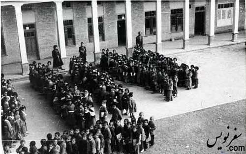 عکسی قدیمی از مدرسه قصه های مجید (اتحاد، آلیانس)