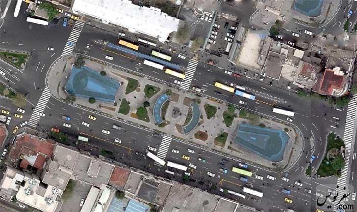 عکس هوایی میدان بهارستان در سال 1386
