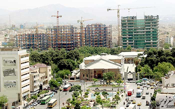 ساخت و ساز در شرق میدان بهارستان