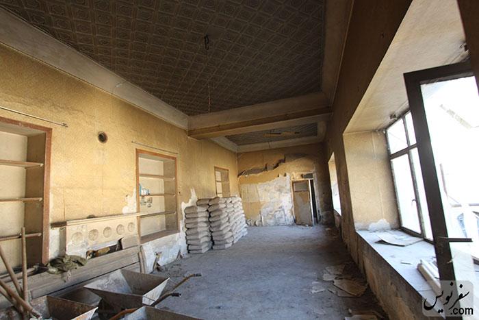 فضای داخل عمارت شمال شرقی خانه دکتر عبدالحسین ابتهاج سمیعی