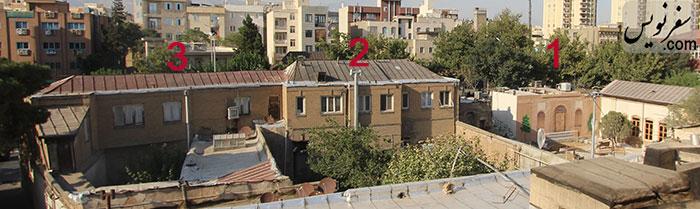 عکس عمارتهای شمالی مجموعه خانه دکتر ابتهاج سمیعی