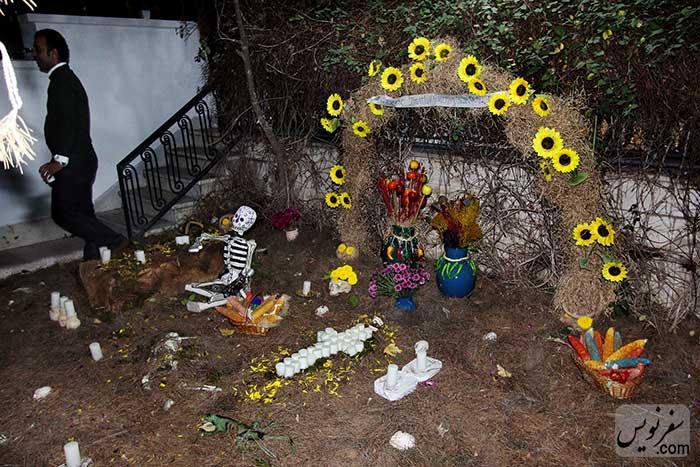 حیاط سفارت مکزیم و تزئینات روز مردگان