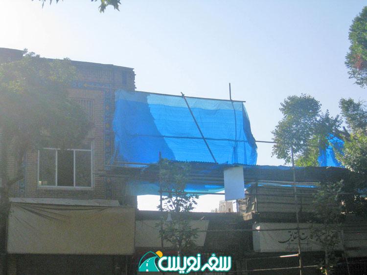 تخریب جداره غربی عمارت تاریخی تابان
