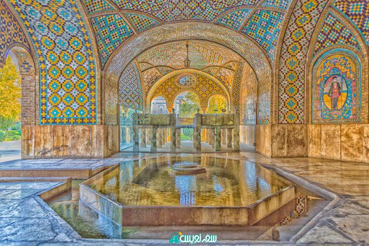 بازدید از خلوت کریمخانی کاخ گلستان و سنگ مزار ناصرالدین شاه