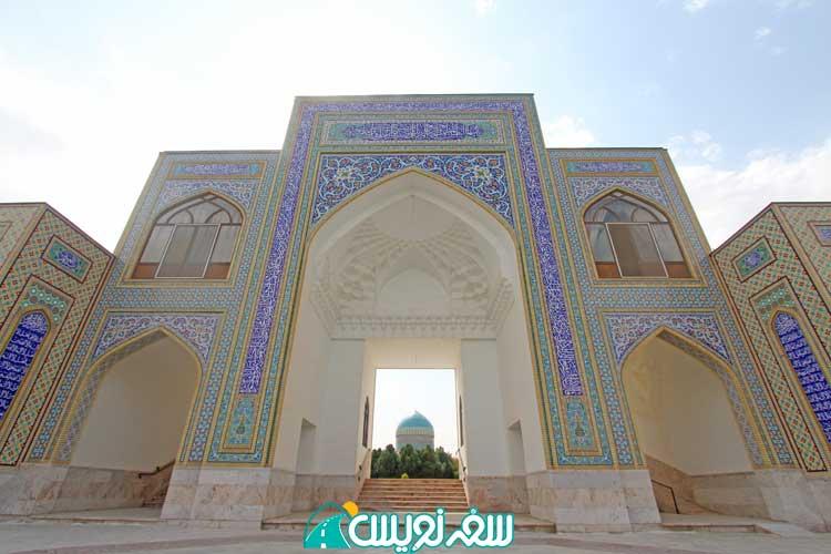منظره آرامگاه خواجه ربیع از باغ دوم
