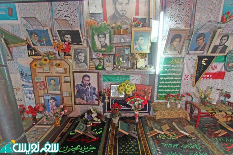 تزئینات داخل یکی از حجره های آرامگاه خواجه ربیع