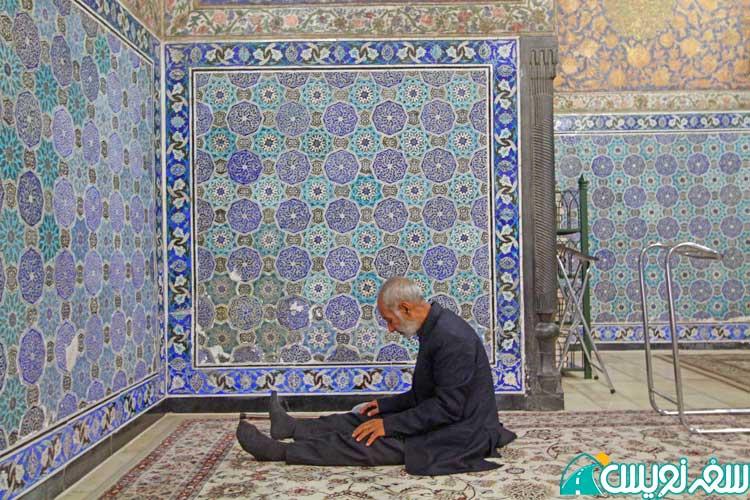 کاشی کاری های داخل آرامگاه خواجه ربیع