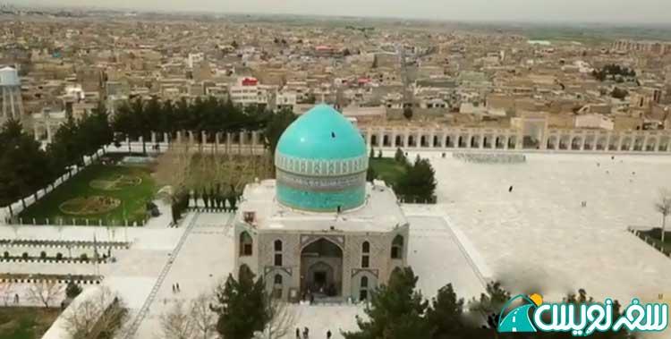 عکس هوایی از آرامستان و مقبره خواجه ربیع