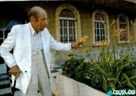 محمد ظهیری در زمان افتتاح باغ ظهیری