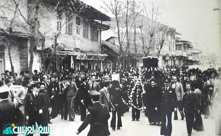 تشییع جنازه آرسن میناسیان در شهر رشت