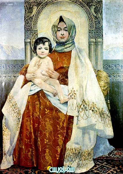 روز مادر از نگاه کتاب مقدس، نقاشی مادر و فرزند اثر اثر وارتگس سورنیانس