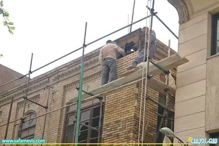 آغاز مرمت اولیه خانه مهبد، عکس محدثه میر