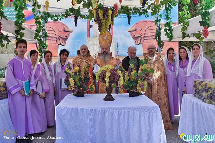 جشن تبرک انگور در کلیساهای ارامنه تهران