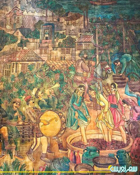 تابلوی نقاشی جشن تبرک انگور در ارومیه آذربایجان