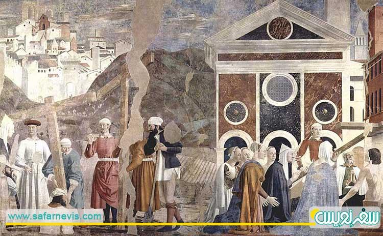 شفا با صلیب مقدس اثر پیرو دلا فرانچسکا