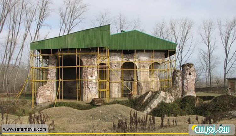 اسپی مزگت (مسجد سفید) قدیمی ترین مسجد گیلان قبل از ویرانی