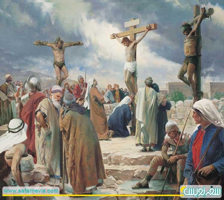 زمان به صلیب کشیده شدن مسیح و دو دزد