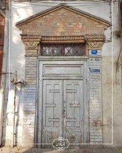 سردر باقی مانده از خانه سرلشگر ابراهیم ضرابی عکس حمیدرضا حسینی